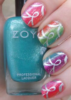Zoya Surf Collection Gradient + Stamping!