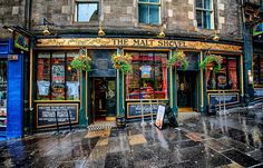The Malt Shovel on Cockburn Street in Edinburgh, Scotland