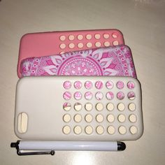 IPHONE CASE BUNDLE IPhone 5c bundle includes the silicone apple covers in pink and white also a cute pink and baby blue tribal print case! Very cute! Included is a IPhone stylist pen!! Apple Accessories Phone Cases