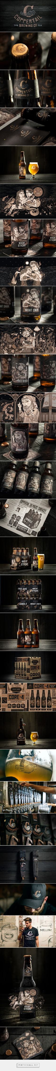 Coppertail Brewing Co. #packaging designed by sparkbrand​ - http://www.packagingoftheworld.com/2015/04/coppertail-brewing-co.html
