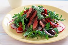 This warm summer salad combines succulent lamb and crisp greens with a fresh-tasting mint pesto. It's perfect for a healthy Tuesday night dinner.
