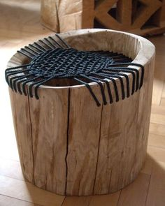 Chairs | natanel: Rustic Wooden, Diy Chairs Recycled Rustic, Ropes Chairs, Wood Benches Ideas, Logs Chairs, Interiors Design Ideas, Wooden Chairs Ideas, Chairs Stools, Cool Chairs