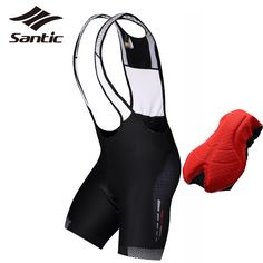 Santic Cycling Bib Shorts Men Pro Padded Quick Dry Bicycle Underwear Cycle Bike Bib Shorts Cycling Clothing Culotte Ciclismo