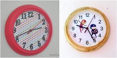 This is an easy IKEA RUSCH wall clock hack that I did for the kid's room.
