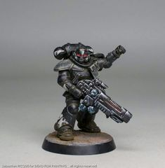 Dark as night The punishment of the emporeor Space Marine Dreadnought, Rogue Traders, Warhammer Models, Warhammer 40k Miniatures, Space Wolves, Crusaders, Warhammer 40000, Paint Schemes, Tabletop Games