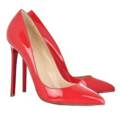 Lipstick pink patent leather pumps with a heel that measures approximately / inches. These hot sale Christian Louboutin Pigalle pumps have a pointed low-cut toe and signature red leather soles. Christian Louboutin Black Pumps, Christian Louboutin Outlet, Red Louboutin, Red Pumps, High Heel Pumps, Pumps Heels, Red Shoes, Shoes Sandals, Discount Shoes Online
