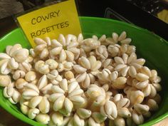 100 cowry rosettes by hulamelani on Etsy