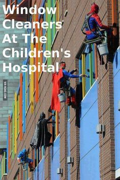 This put a smile on my face :),  Faith in humanity restored.  Heros are everywhere.  Superman,Batman,Spiderman,and Captain America.