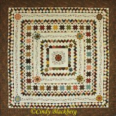 """Piney Rose"" medallion quilt is the 2015 ""stitch along"" at www.cindyblackberg.com."