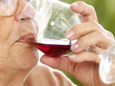 A 100-year-old woman says she's lived a long life because she drinks wine.