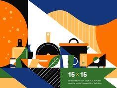 Recipes by Tristan Kromopawiro Paar Illustration, Coffee Illustration, Digital Illustration, Graphic Illustration, Hells Kitchen, E Motion, Food Patterns, Theme Color, Food Illustrations