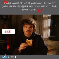 Nacho Libre with Jack Black. Join me for some toast.
