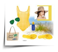 """""""yellow plaid"""" by susanp76 ❤ liked on Polyvore featuring Melissa, Solid & Striped, Nordstrom, Victoria Beckham and Aqua"""