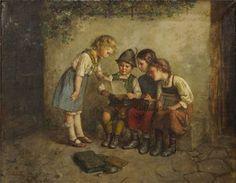 """""""La Lección"""". Edmund Adler (, 1871-1957)"""