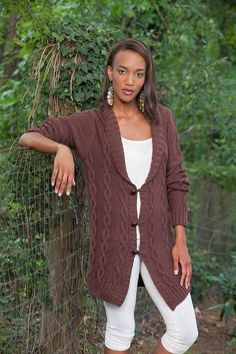 Free Universal Yarn Pattern : Winter Afternoon Sweater Jacket