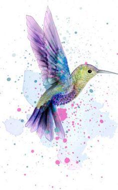 Hummingbird, Watercolor Art, Wallpaper, Tattoos, Animals, Goody Bags, Tatuajes, Animales, Watercolor Painting