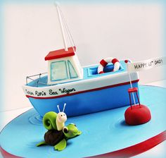 Fishing Boat Cake - SugarEd Productions Online Classes