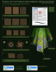 fabric patterns tutorial by oione.deviantart.com on @deviantART