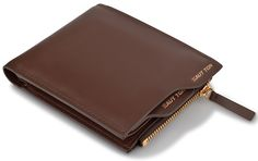 Hautton Brown Leather Wallet with Coin Pocket - Small Size