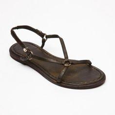Leather Sandals in Dark Brown