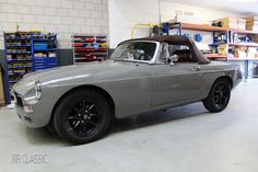 MGB RRC Grey - by RR Classic British Sports Cars, Classic Sports Cars, Classic Cars, Vintage Cars, Antique Cars, Mg Midget, Mg Cars, Datsun 510, Pretty Cars