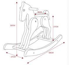 Foto de Balancim Brinquedo-De madeira do cavalo do cavalo de balanço da fonte da fábrica em pt.Made-in-China.com