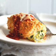 Chicken Parmesan Bundles   TO DIE FOR!! These were so good and so flavor packed!!! Definitely great for dinner parties or special occasions. I served it with angel hair pasta.