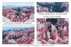 Pink Bryce Canyon Collection by PhotographerJen on @creativemarket #Landscape #Bundle #BryceCanyon #Pink #Design #CreativeMarket