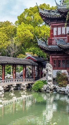 Detail of the Historic Yuyuan Garden created in the year 1559 by Pan Yunduan in Shanghai China | 21 Magnificent Photos That Will…
