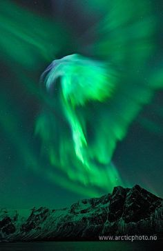 "Natures light show • Bjorn Jorgensen's view of the aurora was captured at Grotfjord, close to Tromso in north Norway. ""This was amazing,"" he told SpaceWeather.com. ""It was a wonderful experience to see these stunning auroras."""