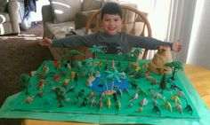 100th Day of School project. 100 Dinosaurs!