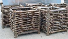 Belgian Hazelwood Box Planters