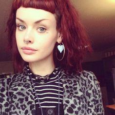 Red Hair, Micro Bangs
