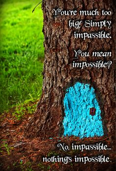 Alice in Wonderland quote. (but with the tree bark removed and then maybe stained so it looks like a real door in the tree) Alice And Wonderland Quotes, Alice In Wonderland Party, Adventures In Wonderland, Boogie Wonderland, Alice Quotes, Disney Quotes, Book Quotes, Girl Quotes, Frases