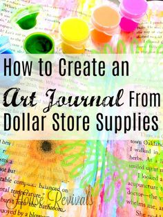 House Revivals: Make an Art Journal From Dollar Store Supplies!