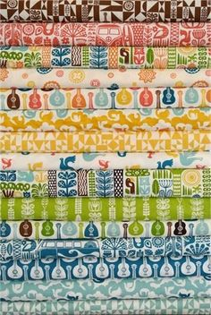 Dennis Bennett Birch Organic Fabrics, Ipanema, Entire Collection 15 FAT QUARTERS in Total