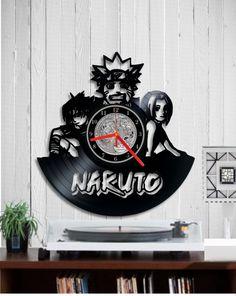 Vinyl clock record Naruto vinyl clock. Wall clock. by Indigovento