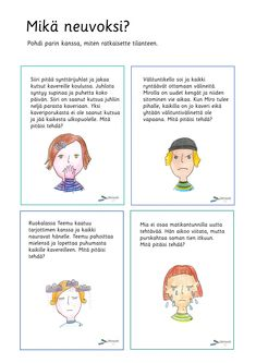 Tunnetaidot - Värinautit Finnish Grammar, Finnish Language, Ice Breakers, Early Childhood Education, Speech Therapy, Finland, Mindfulness, Teaching, Feelings