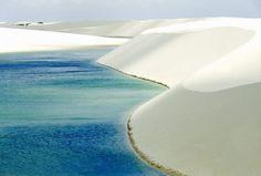 Be wowed by nature's sand art at Brazil's Lençóis Maranhenses National Park (© rex features)