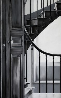 """""""Stairwell"""" by Zaria Forman (2012) - Soft pastel and charcoal"""