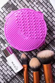 How do I clean my makeup brushes?