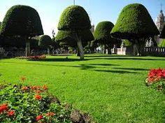 Garden in el Centro de Leon, Guanajuato, Mexico