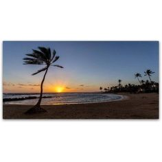 Trademark Fine Art 'Poipu Sunset' Canvas Art by Pierre Leclerc, Size: 24 x 47, Assorted