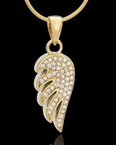 Gold Plated Wing Pendant - $109.95