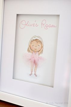 Little Dance Print - 3D Wall Art - Dance Recital Gift - Ballet Art - Ballerina Artwork - Baby Girl Bedroom - Sweet Cheeks Images