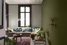 Le vert Aiguilles de Pin tranquillise l'ambiance de ce salon.