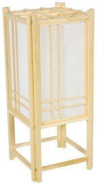 Oriental Furniture Double Cross Shoji H Table Lamp with Rectangular Shade