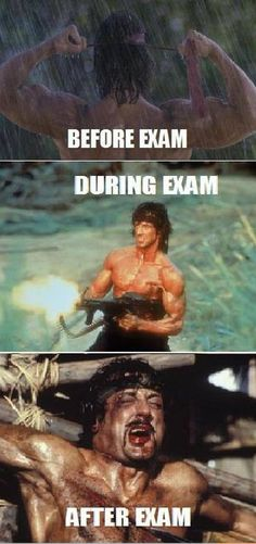 Math exam today!! This will be me.