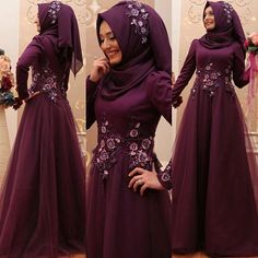 Image may contain: 2 people Modest Fashion Hijab, Abaya Fashion, Fashion Wear, Fashion Dresses, Hijab Evening Dress, Hijab Dress Party, Hijab Abaya, Muslimah Wedding Dress, Hijab Style Tutorial