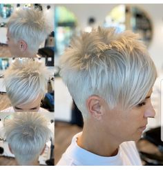 Short hairstyles for women are and will remain a trend. And not just since celebs sacrificed their mane to a cool short pixie! Short hairstyles for women are and will remain a trend. And not just since celebs sacrificed their mane to a cool short pixie! Edgy Short Hair, Short Hair Trends, Super Short Hair, Short Hair Styles Easy, Short Hair With Layers, Short Hair Cuts For Women, Curly Hair Styles, Curly Short, Short Spiky Hairstyles